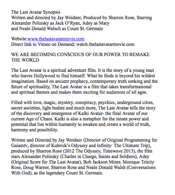 the last avatar movie media kit press release synopsis reviews